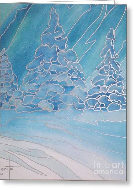 The Magic Of Snow Greeting Card by Lorita Montgomery