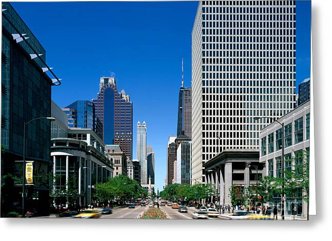The Magnificent Mile In Chicago Greeting Card