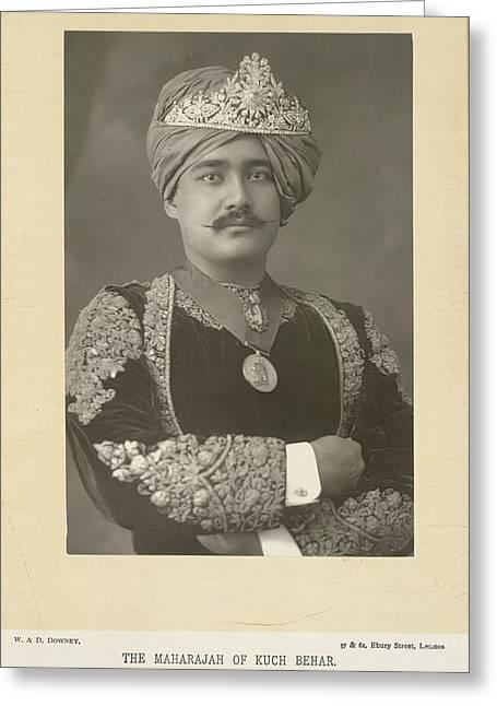 The Maharajah Of Kuch Behar Greeting Card by British Library