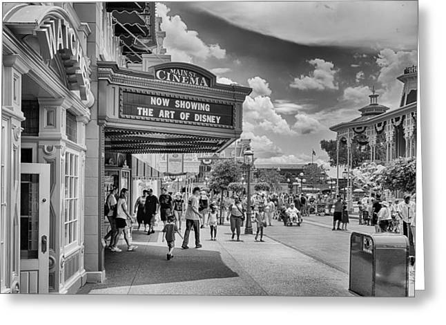Greeting Card featuring the photograph The Main Street Cinema by Howard Salmon