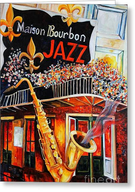 The Maison Bourbon New Orleans Greeting Card