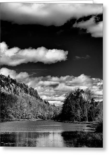 The Majestic Bald Mountain Pond  Greeting Card by David Patterson