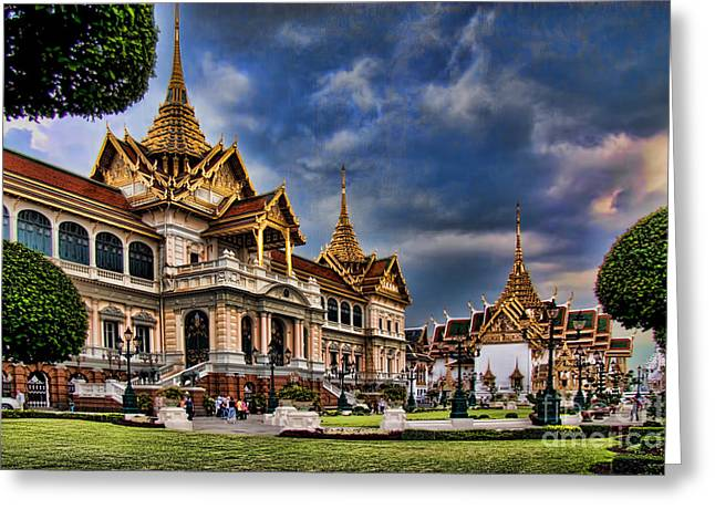 The Majestic Grand Palace Bangkok  Greeting Card by David Smith