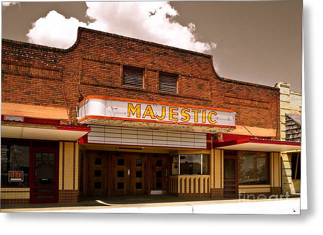 The majestic theatre greeting cards fine art america the majestic greeting card m4hsunfo