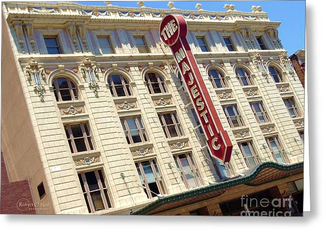 Greeting Card featuring the photograph The Majestic Theater Dallas #1 by Robert ONeil