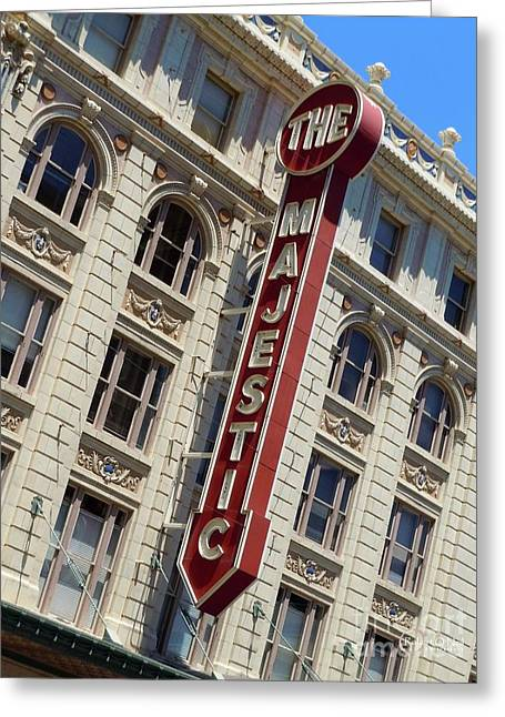 Greeting Card featuring the photograph The Majestic Theater Dallas #2 by Robert ONeil