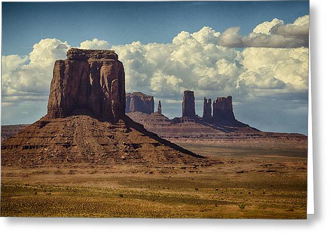 The Majesty Of Monument Valley  Greeting Card
