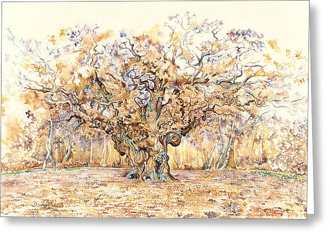The Major Oak Of Sherwood Forest Greeting Card by David Evans