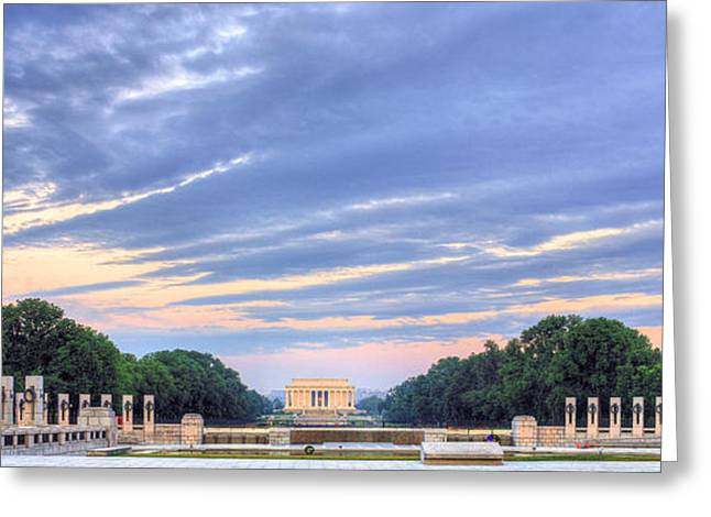 The Mall Greeting Card by JC Findley