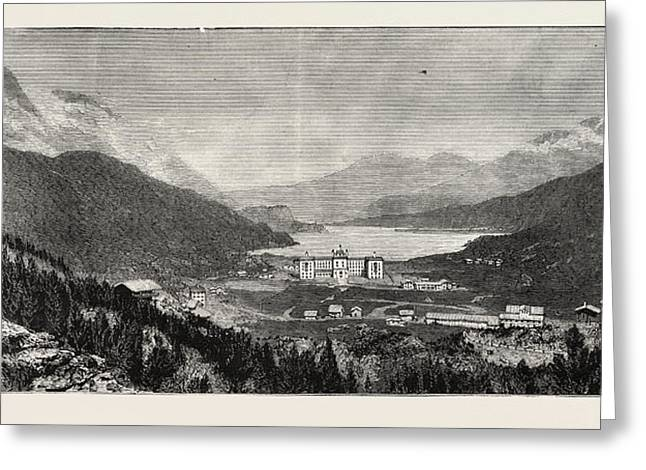 The Maloja Valley, A New Health Resort In The Upper Engadine Greeting Card by Swiss School