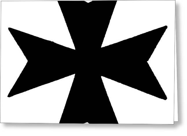 The Maltese Cross Greeting Card by Granger