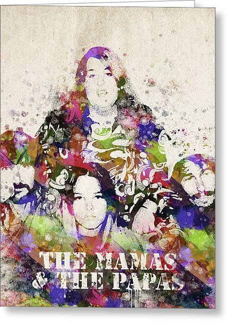 The Mamas And The Papas Greeting Card by Aged Pixel