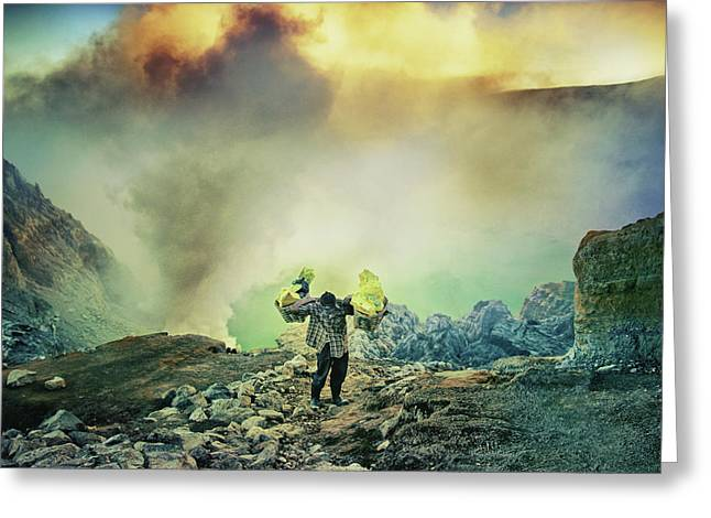 The Man From Green Crater Greeting Card by Ismail Raja Sulbar