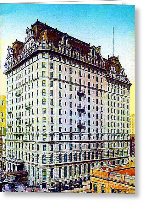 The Manhattan Hotel In New York City 1897 Greeting Card