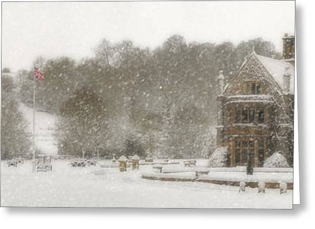 The Manor House Greeting Card by John Chivers
