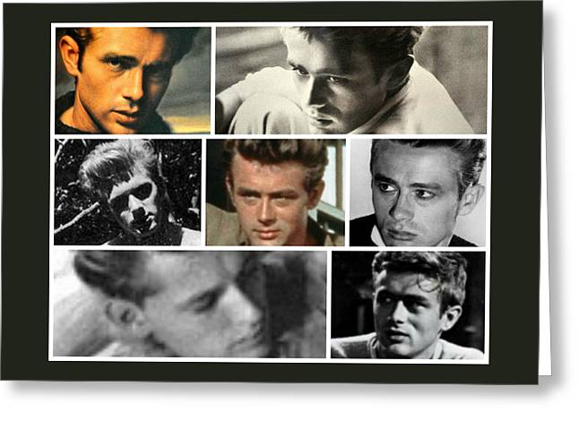 James Dean The Many Faces Greeting Card
