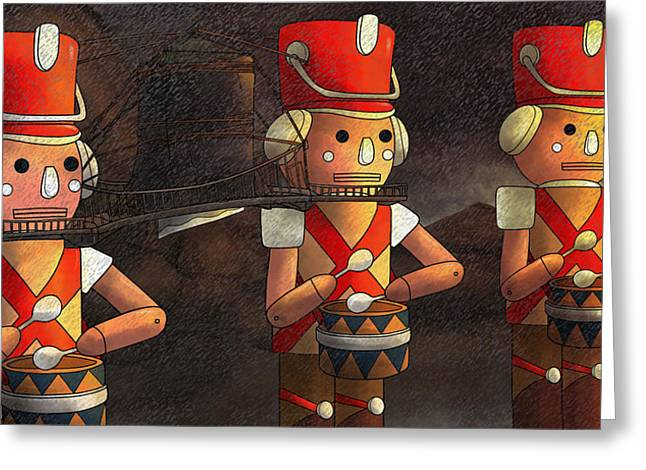 The March Of The Wooden Soldiers Greeting Card
