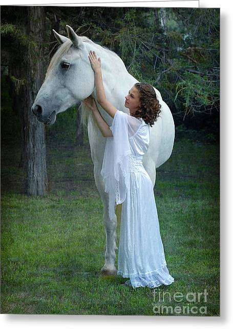 The Mare And The Maiden Greeting Card by Fran J Scott