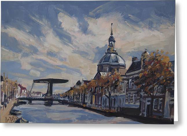 The Mare Church And Mare Bridge Leiden Greeting Card