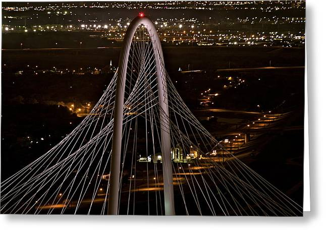The Margaret Hunt Hill Bridge Greeting Card by John Babis