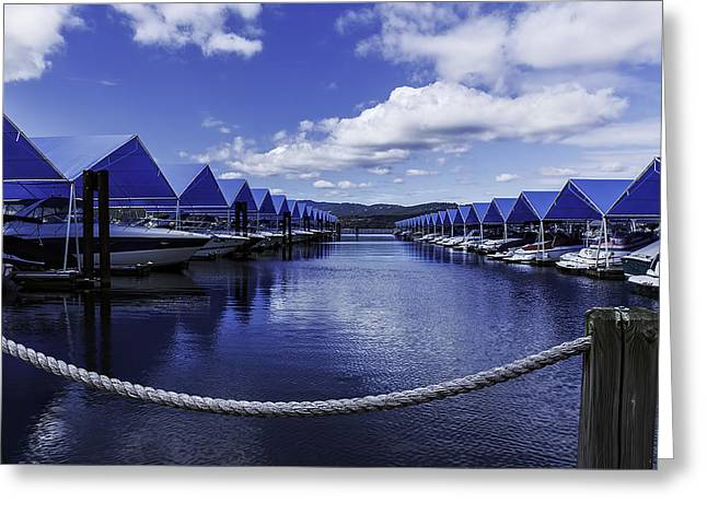 The Marina At Lake Couer D' Alene Greeting Card by Nancy Marie Ricketts