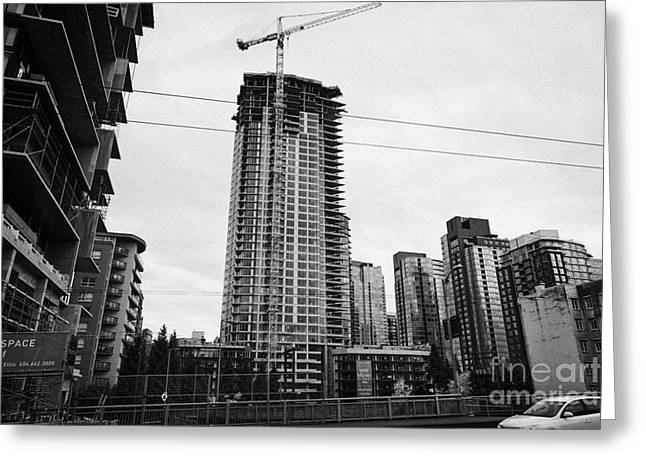 the mark new condo project granville street yaletown Vancouver BC Canada Greeting Card by Joe Fox