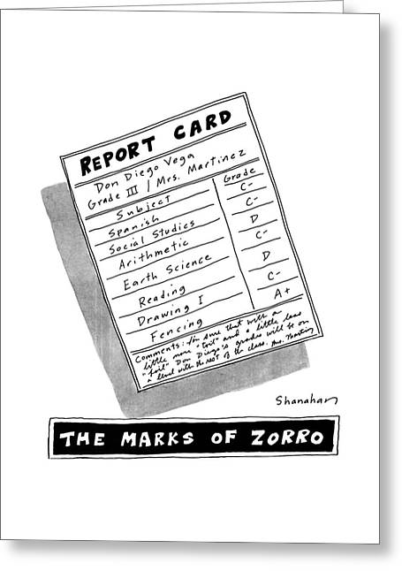 The Marks Of Zorro Greeting Card