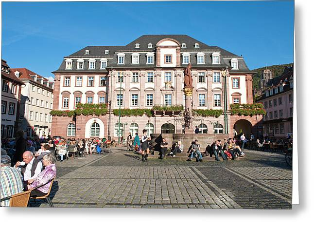 The Marktplatz, Or Market Square Greeting Card