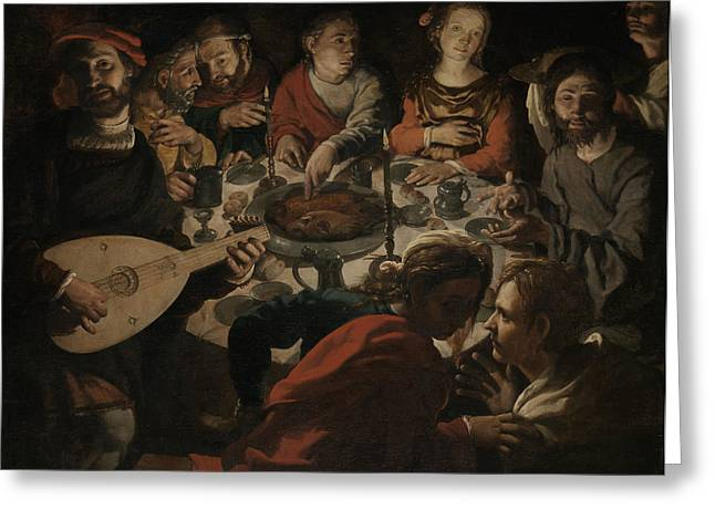 The Marriage At Cana, Jan Cornelisz Vermeyen Greeting Card