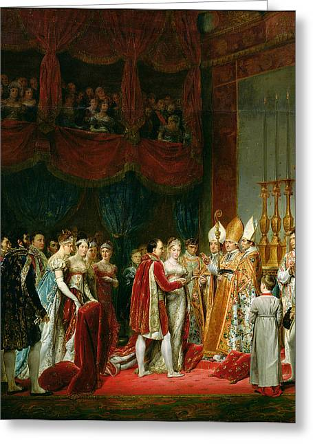 The Marriage Of Napoleon I 1769-1821 And Marie Louise 1791-1847 Archduchess Of Austria, 2nd April Greeting Card by Georges Rouget