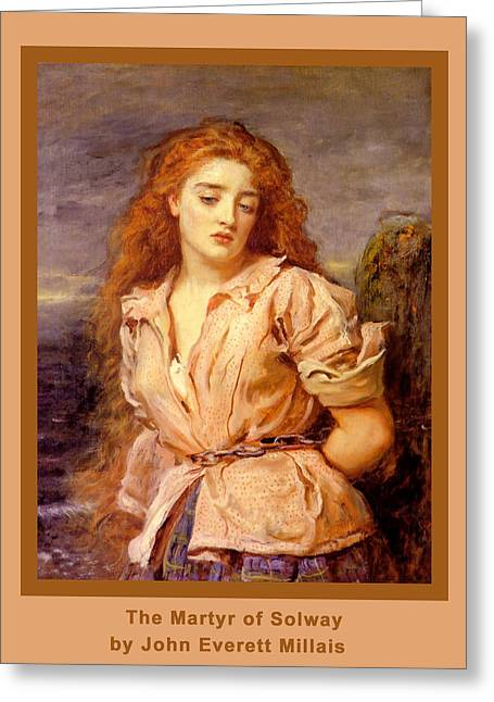 The Martyr Of The Solway Poster Greeting Card by John Everett Millais