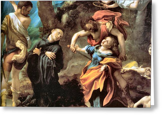 The Martyrdom Of Four Saints Greeting Card