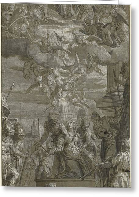 The Martyrdom Of Saint Justina Paolo Veronese Paolo Greeting Card