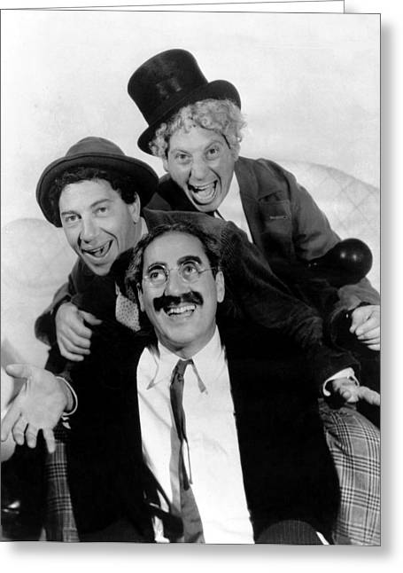 The Marx Brothers - A Night At The Opera Greeting Card by Georgia Fowler