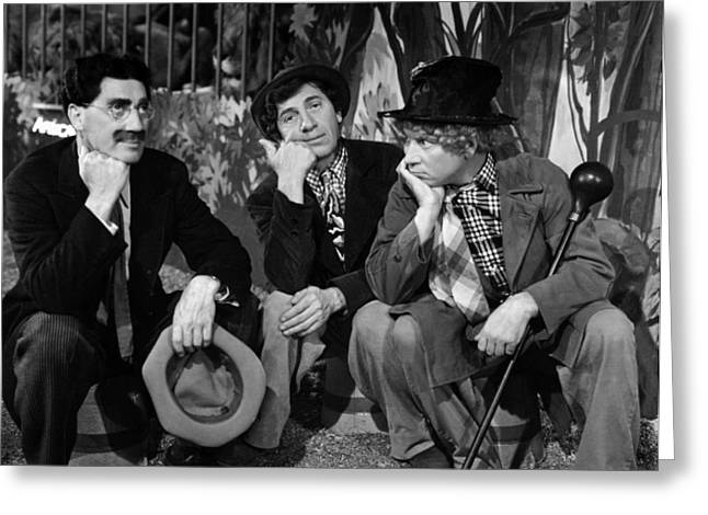 The Marx Brothers - At The Circus Greeting Card by Georgia Fowler