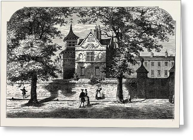The Marylebone School-house In 1780 Greeting Card by Litz Collection