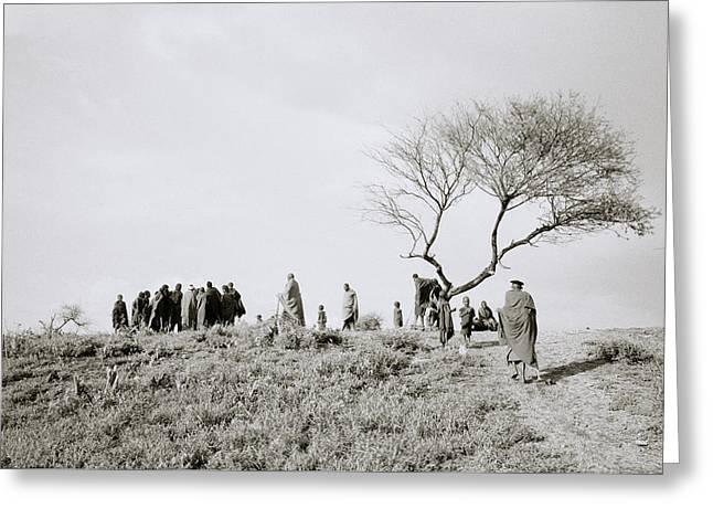 The Masai Village Greeting Card