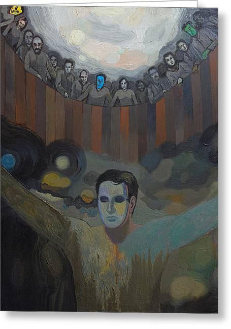 The Mask Greeting Card by Fernando Alvarez