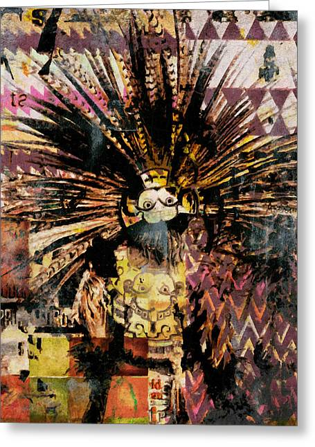 The Mask Greeting Card by Irena Orlov and Zeev Orlov