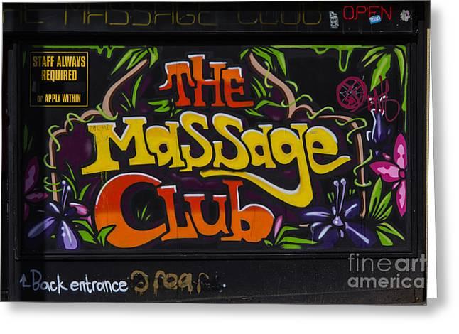 The Massage Club Greeting Card by Brian Roscorla
