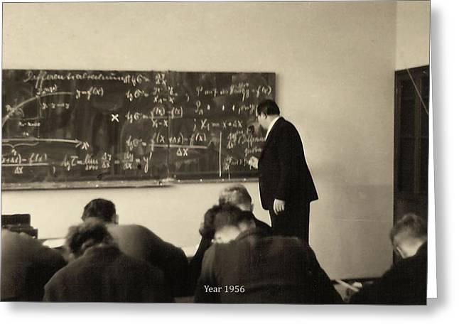 Year 1956 The Math Teacher  Greeting Card