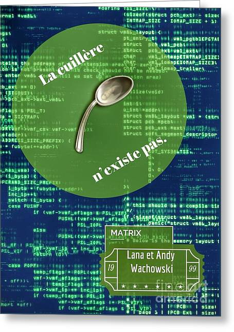 The Matrix Spoon Greeting Card by HELGE Art Gallery
