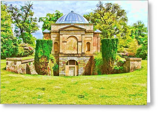 Greeting Card featuring the photograph The Mausoleum Bowood -01 by Paul Gulliver