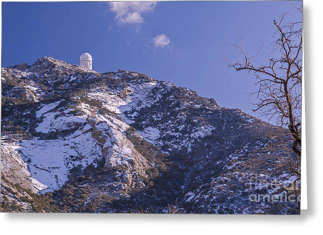 The Mayall Observatory Atop Kitt Peak Greeting Card