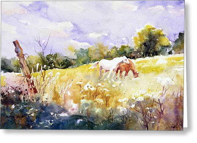 The Meadow Above Giverny Greeting Card by Patton Hunter