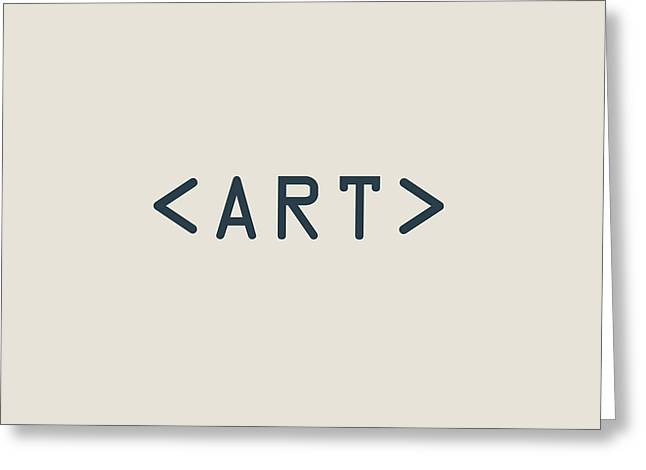 The Meaning Of Art - Angle Brackets Greeting Card by Serge Averbukh