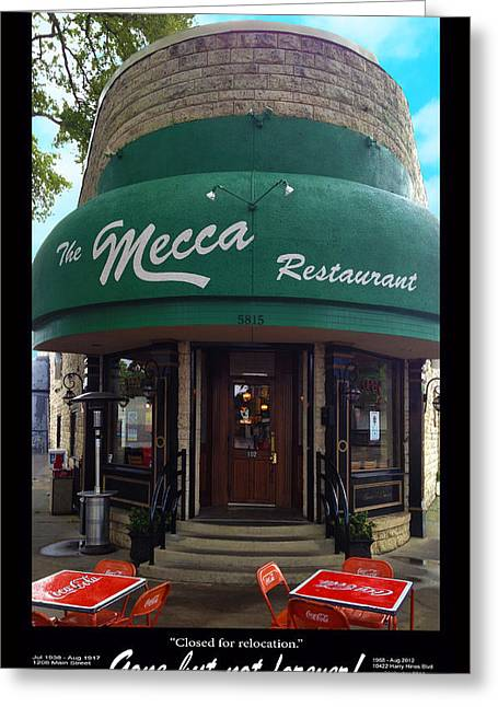 The Mecca Restaurant Greeting Card