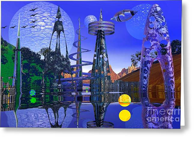 Greeting Card featuring the photograph The Mechanical Wonder by Mark Blauhoefer