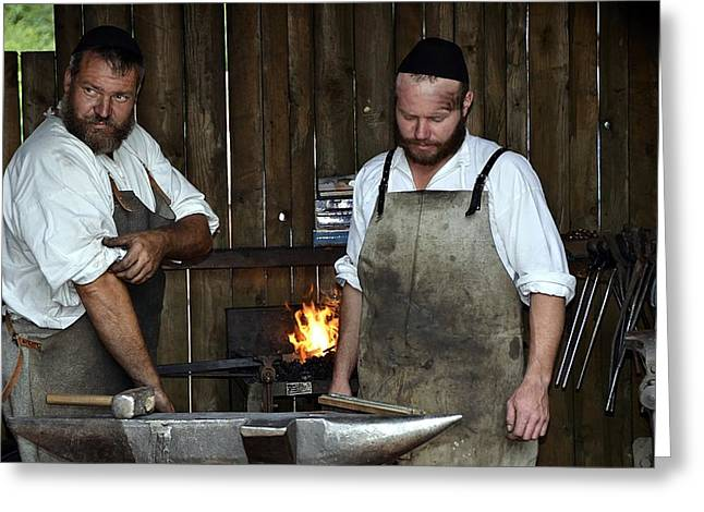 The Medieval Blacksmith In Bavaria Greeting Card