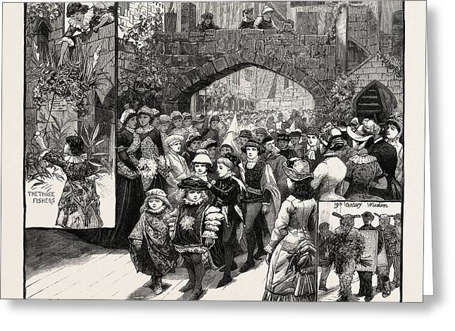 The Medieval Market At Knightsbridge For The Benefit Greeting Card